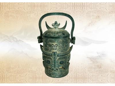 古代早期鏤雕提梁碧玉壺
