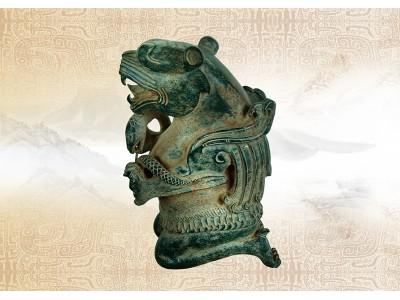 古代碧玉仿青銅器雕件